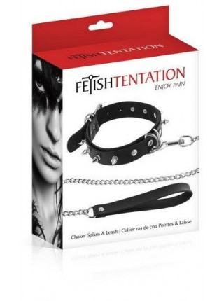 Чокер Fetish Tentation Spikes and Leash
