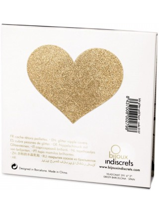 Украшение на соски Bijoux Indiscrets - Flash Heart Gold