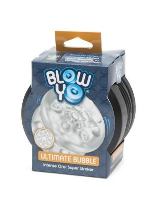 BlowYo ПОТРЯСАЮЩИЕ ПУЗЫРЬКИ / 2 в 1: Мастурбатор-аксессуар для орального секса BlowYo Ultimate Bubbl