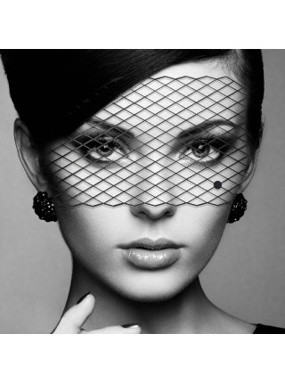 Маска на лицо Bijoux Indiscrets - Louise Mask, виниловая, клеевое крепление, без завязок