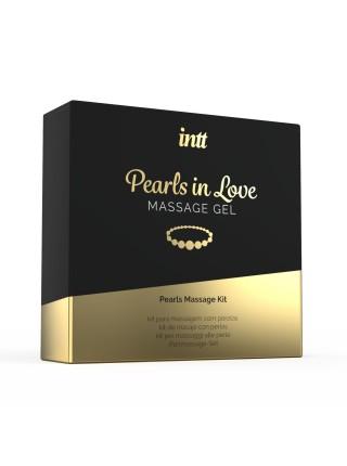 Набор для жемчужного массажа Intt Pearls in Love: ожерелье и силиконовый массажный гель