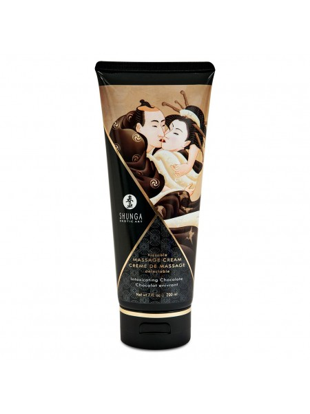 Съедобный массажный крем Shunga KISSABLE MASSAGE CREAM - Intoxicating Chocolate (200 мл) SO2507