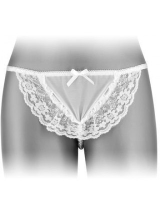 Трусики-стринги с жемчужной ниткой  Fashion Secret KATIA White