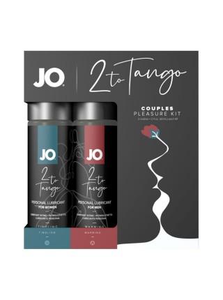 Набор смазок для пары System JO 2-TO-TANGO: согревающая для него и стимулирующая для нее