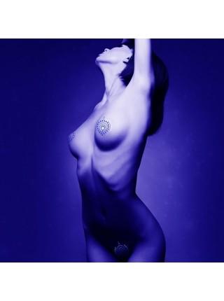 Украшения для груди и бикини FLAMBOYANT со стразами серебристо-чёрный