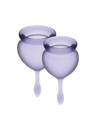 Набор менструальных чаш Satisfyer Feel Good (lila), 15мл и 20мл, мешочек для хранения SO3586 Dorcel
