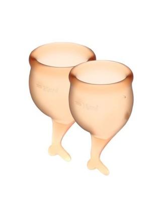 Набор менструальных чаш Satisfyer Feel Secure (orange), 15мл и 20мл, мешочек для хранения SO3593 Satisfyer