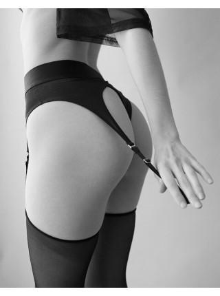 Трусы для страпона с подвязками для чулок Strap-On-Me REBEL HARNESS - S