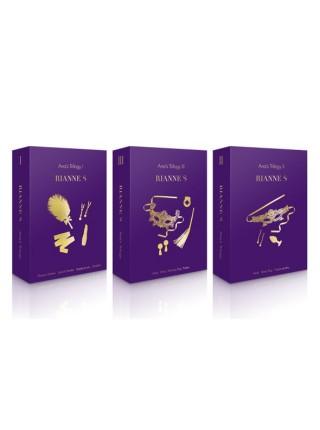 Подарочный набор RIANNE S Ana's Trilogy Set III: эрекционное кольцо, ажурная маска, пестис, плеть