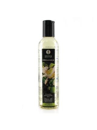 Органическое массажное масло Shunga ORGANICA - Exotic green tea (250 мл) с витамином Е