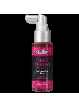 Спрей для минета Doc Johnson GoodHead Deep Throat Spray – Sweet Strawberry (59 мл)
