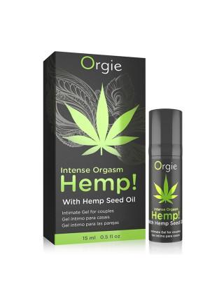 Усилитель оргазма Intense Orgasm Hemp! с маслом каннабиса - 15 мл ORGIE 51393 Orgie