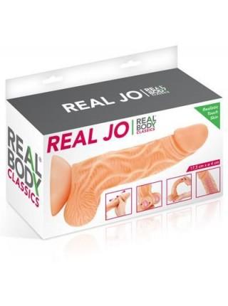 Фаллоимитатор с подвижной крайней плотью Real Body - Real JO, диаметр 4см, TPE