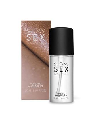 Разогревающее съедобное массажное масло WARMING MASSAGE OIL Slow Sex  Bijoux Indiscrets (Испания) B0328 SLOW SEX by Bijoux Indiscrets
